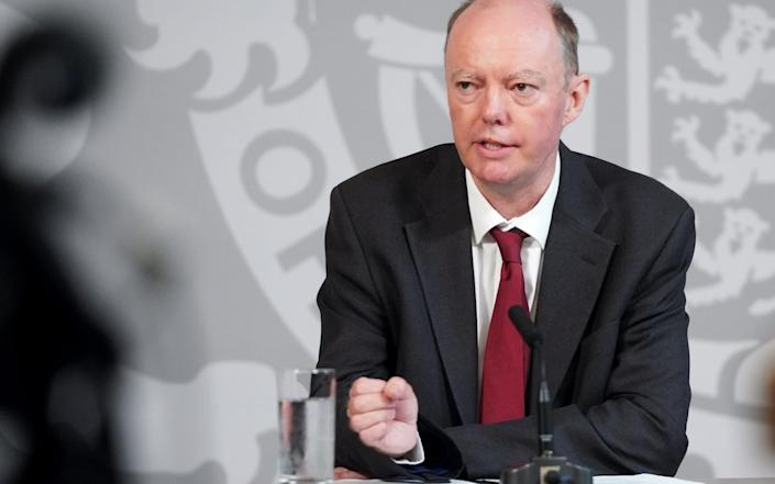 Chief Medical Officer, Professor Chris Whitty - No10 Downing Street