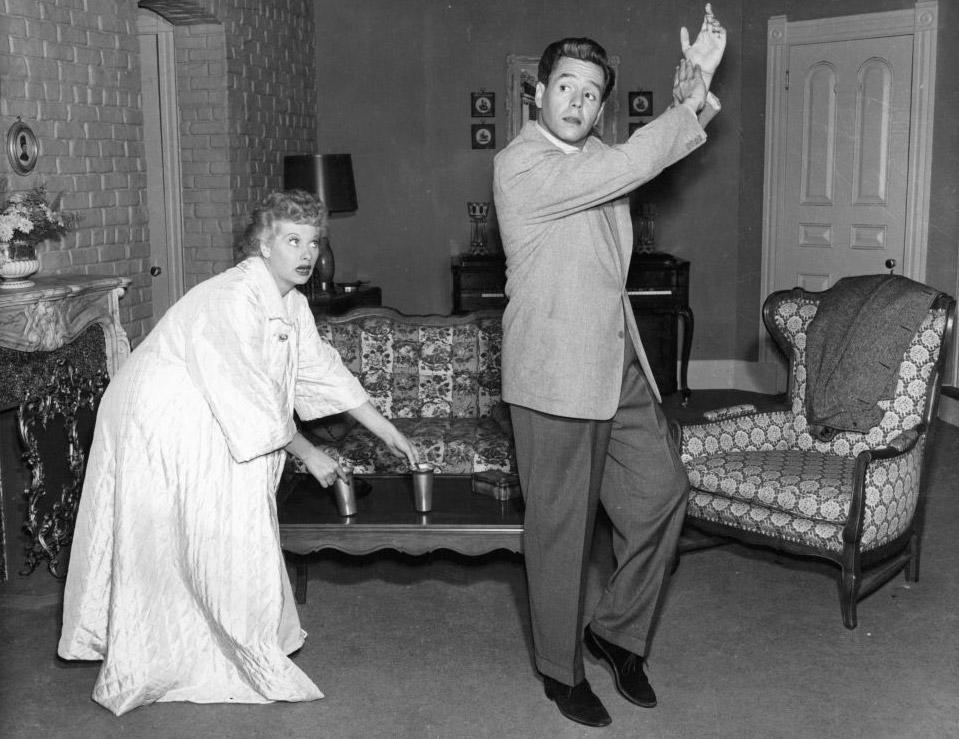 "<p>During the second season of <em>I Love Lucy</em>, the star became pregnant with Desi, Jr., her second child with husband and costar Desi Arnaz.</p> <p>As a result, Ball became the first actually pregnant woman to play a pregnant woman on television <em>and </em>she couldn't even say the word ""pregnant;"" instead, they said she was ""expecting.""</p> <p>Ball also had to hide her bump under large clothing and aprons as her fictional character was not as far along as she was. </p>"