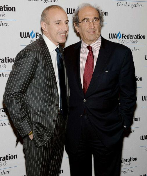 PHOTO:Matt Lauer and Andy Lack attend UJA-Federation Of New York Broadcast, Cable And Film Award Celebration at The Edison Ballroom in this April 9, 2013 file photo in New York City. (Dimitrios Kambouris/Getty Images, FILE)