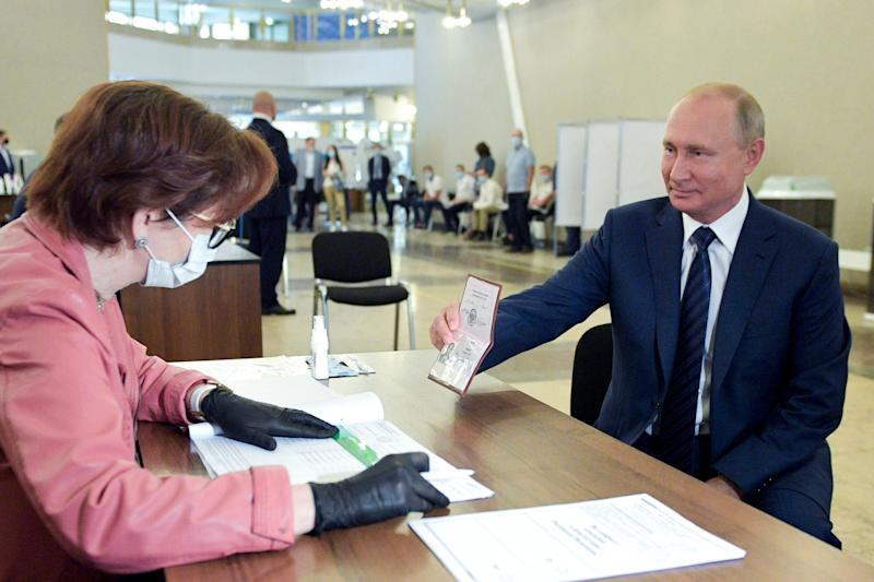 Putin votes on the referendum allowing him to rule until 2036 at a polling station in Moscow: AP