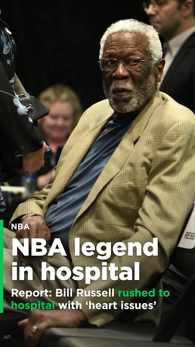 "NBA legend Bill Russell was rushed to a hospital in Washington state on Friday night with ""apparent heart issues,"" according to a report from TMZ on Saturday."