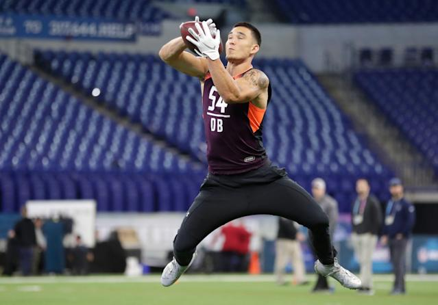 Washington safety Taylor Rapp might turn out to be a steal for the Los Angeles Rams. (AP Photo)