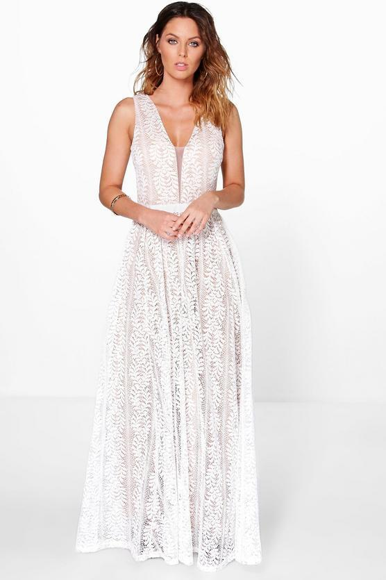 "<p>Dress, $80, <a href=""http://us.boohoo.com/boutique-ali-all-lace-plunge-neck-maxi-dress/DZZ78140.html?color=173"" rel=""nofollow noopener"" target=""_blank"" data-ylk=""slk:boohoo.com"" class=""link rapid-noclick-resp"">boohoo.com</a> </p>"