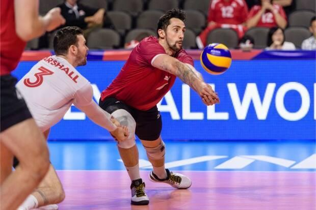 The Olympic-bound Canadian men's team finishes out the tournament in eighth place with a 7-8 record, having won its final five matches. (Courtesy of Volleyball Nations League - image credit)