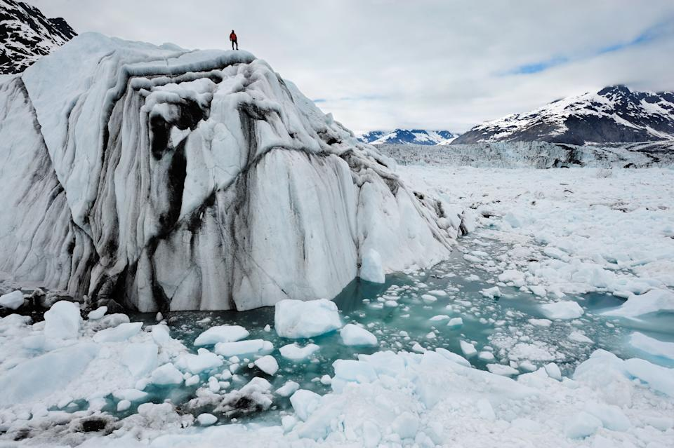 <p>A scene from Chasing Ice, an Emmy Award winning documentary which features on the WaterBear platform</p>James Balog/Extreme Ice Survey