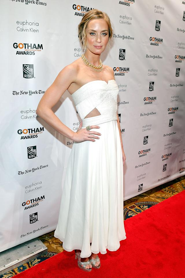 Emily Blunt wore this Calvin Klein creation to the Gotham Independent Film Awards.