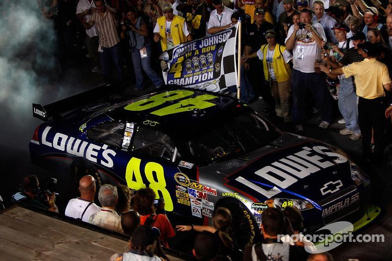 "2009: Jimmie Johnson (Hendrick-Chevrolet)<span class=""copyright"">Getty Images</span>"
