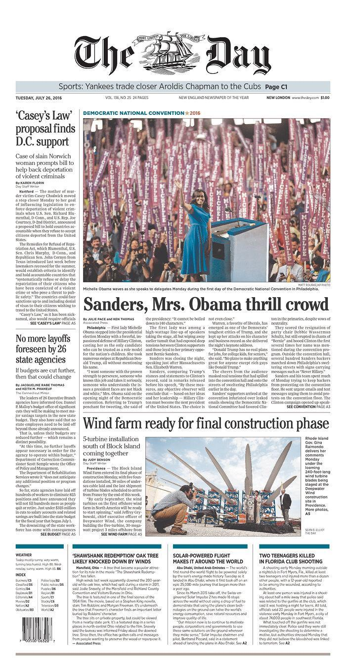 <p>Published in New London, Conn. USA. (newseum.org)</p>
