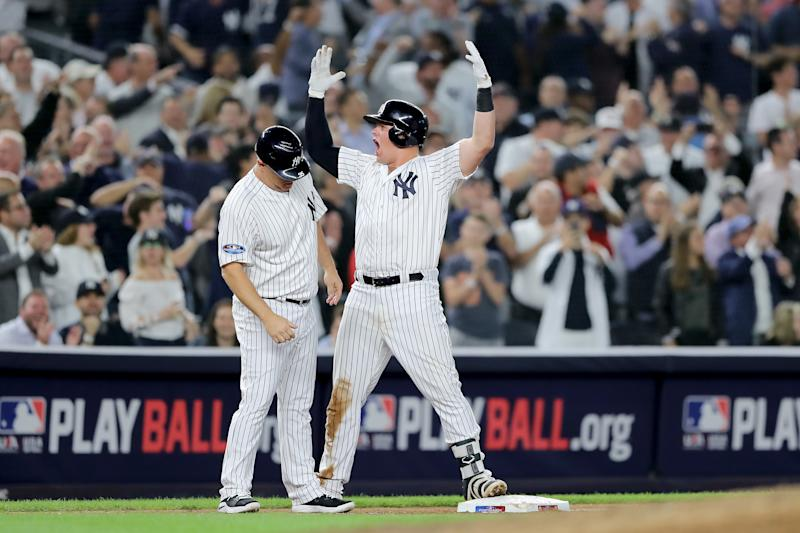 Red Sox hold on to beat Yankees 5-4 in Game 1
