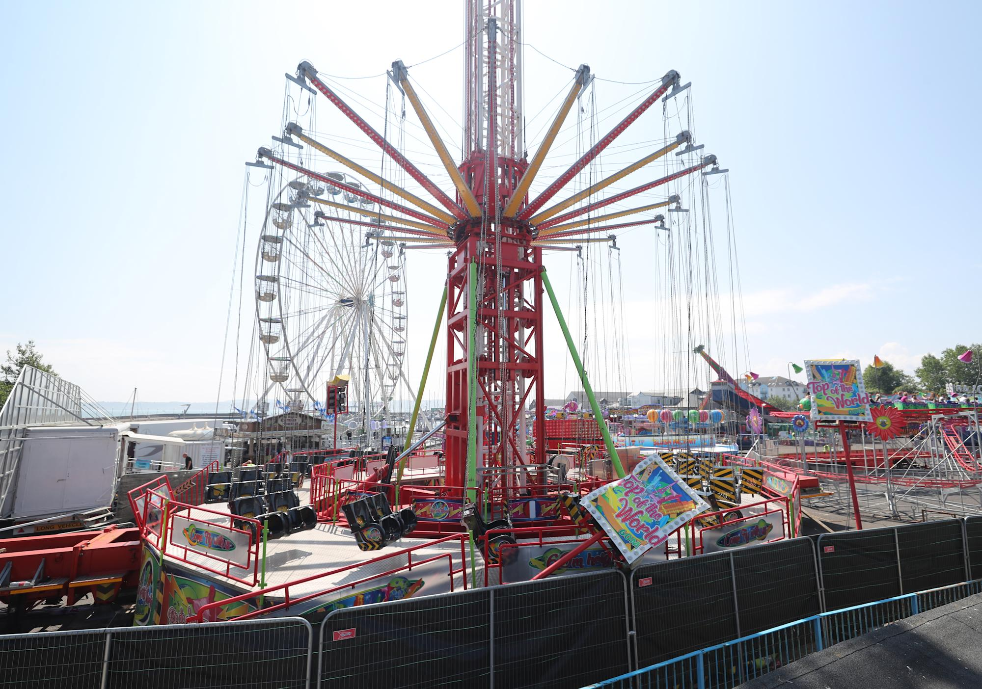 Funfair ride 'collapse' caused by 'misuse of equipment' by teens, organisers say