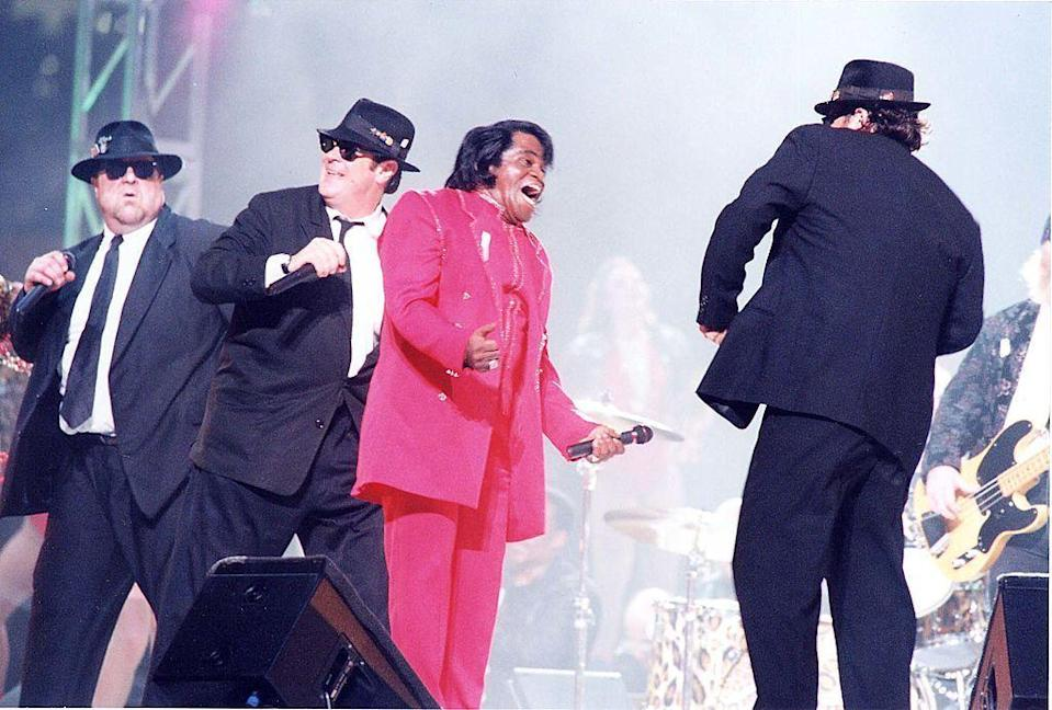 """<p>Original Blues Brother Dan Ackroyd joined the late John Belushi's brother, Jim Belushi ,opened the 1997 Super Bowl halftime show with James Brown.</p><p><a class=""""link rapid-noclick-resp"""" href=""""https://www.youtube.com/watch?v=nC_iiq06qck&ab_channel=ryokanam"""" rel=""""nofollow noopener"""" target=""""_blank"""" data-ylk=""""slk:WATCH NOW"""">WATCH NOW</a></p>"""