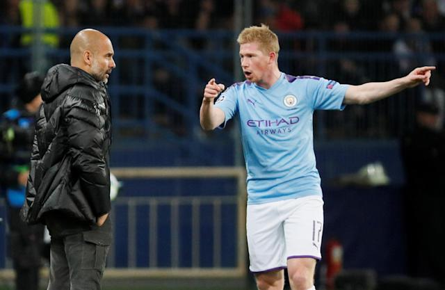Kevin de Bruyne and Manchester City may have reached their domestic peak under Pep Guardiola. (REUTERS/Gleb Garanich)