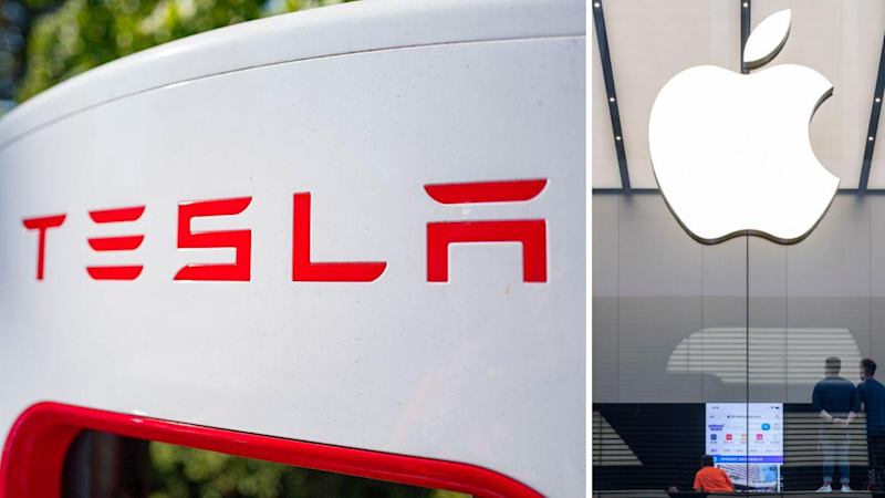 Tesla, Apple stock parts clear route for additional increases