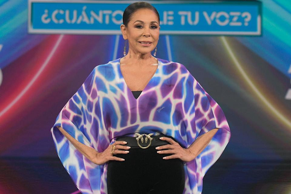 MADRID, SPAIN - APRIL 29: Isabel Pantoja attends 'Top Star ¿Cuanto Vale Tu Voz?' photocall at Mediaset Studios on April 29, 2021 in Madrid, Spain.  (Photo by Europa Press Entertainment/Europa Press via Getty Images)