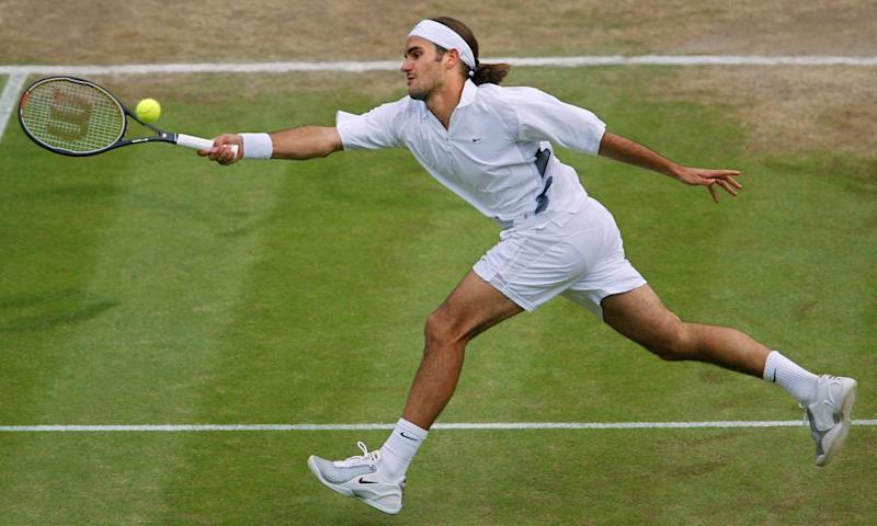 Federer in the early years.