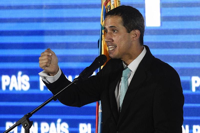 Venezuelan opposition leader Juan Guaido declared himself interim president after Nicolas Maduro was inaugurated to a new term following elections widely seen as unfair