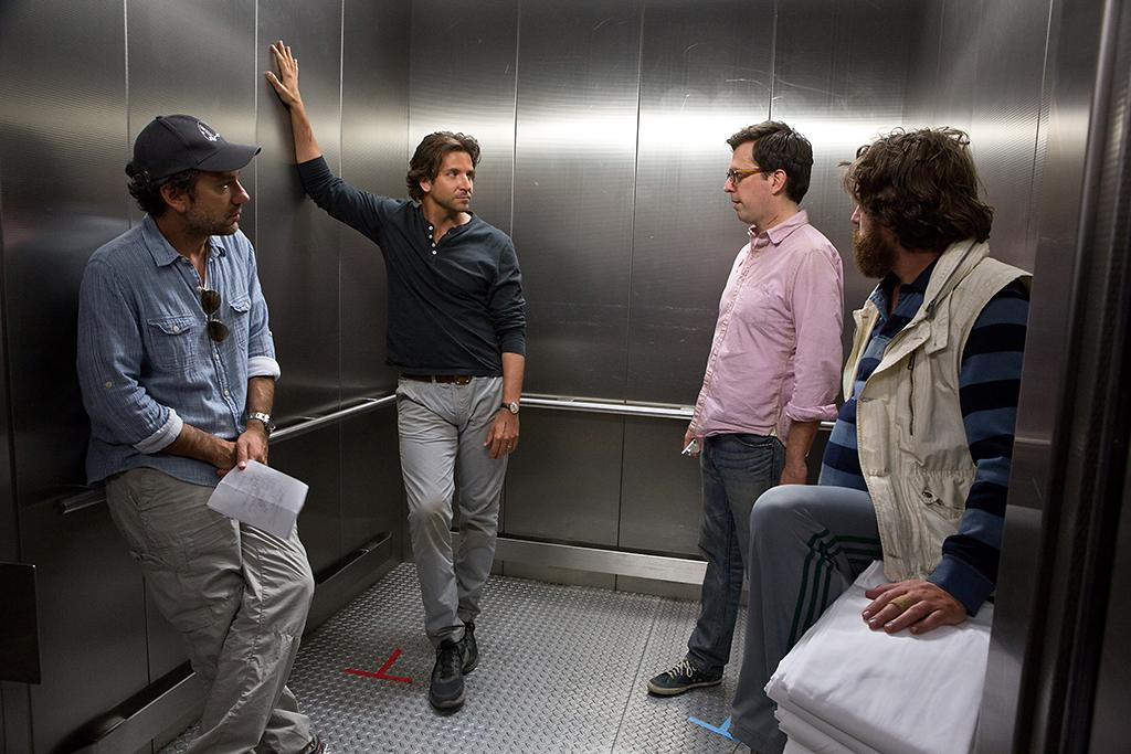 "Director Tody Phillips, Bradly Cooper, Ed Helms and Zach Galifianakis in Warner Bros.' ""The Hangover Part III"" - 2013"