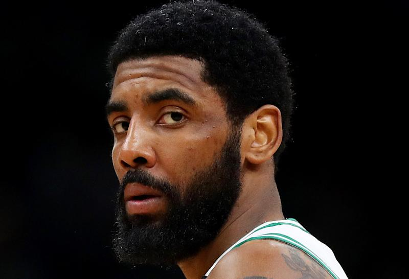 A Nets Kyrie Irving promotion just happens to be aligned with a visit from the Knicks. (Getty)