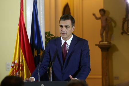 Spain's Prime Minister Pedro Sanchez delivers a speech during a visit to Havana, Cuba, November 23, 2018.  Fernando Calvo/Moncloa/Handout via Reuters