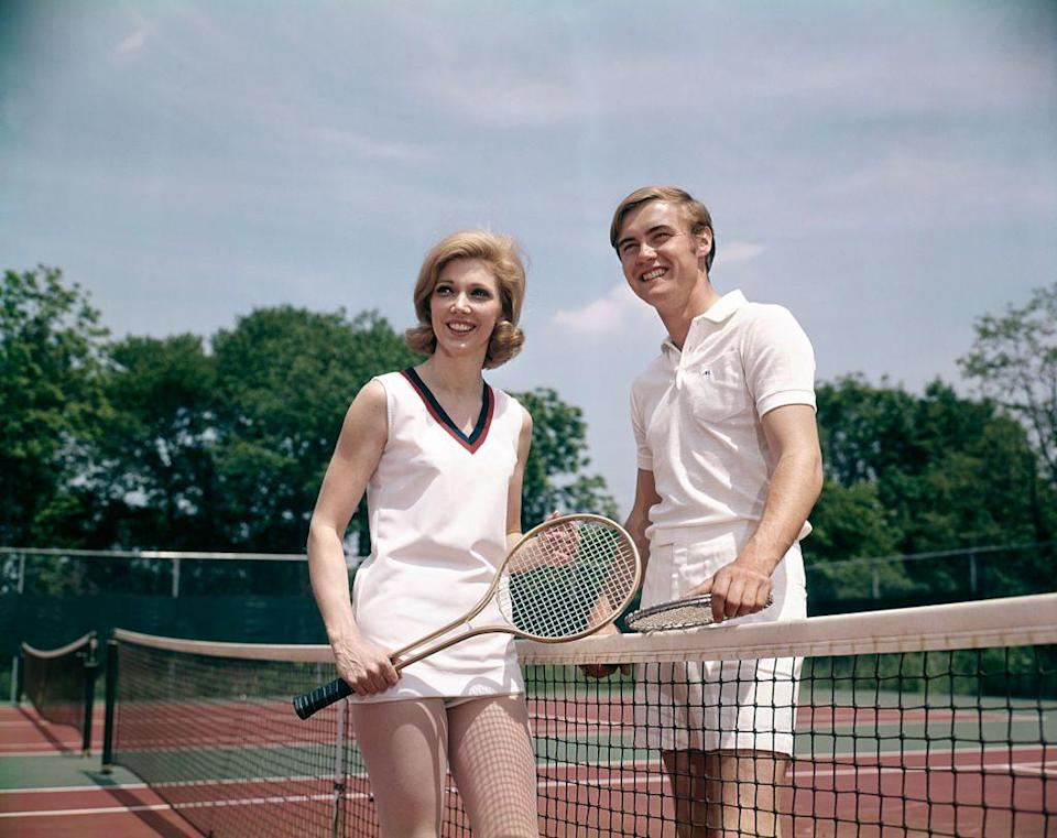 <p>Tennis reached its peak in popularity in the 1980s, after a huge boom during the '70s. As a result, everyday people started investing in rackets and tennis shoes.</p>