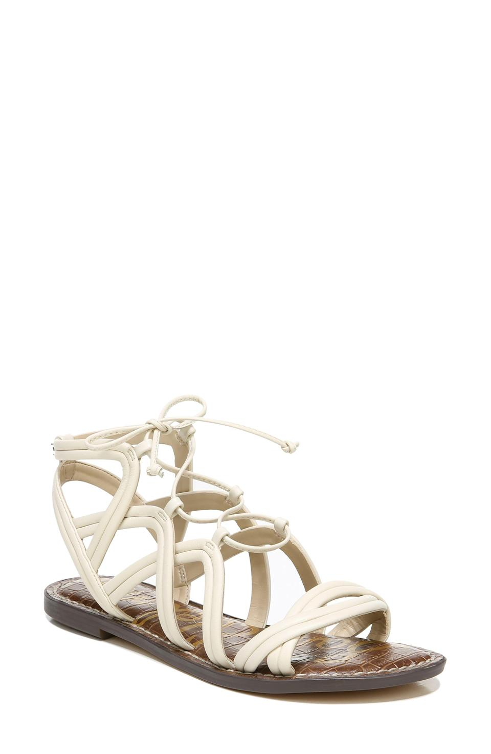 """<p><strong>Sam Edelman </strong></p><p>nordstrom.com</p><p><strong>$99.95</strong></p><p><a href=""""https://go.redirectingat.com?id=74968X1596630&url=https%3A%2F%2Fwww.nordstrom.com%2Fs%2Fsam-edelman-gasha-gladiator-sandal-women%2F5877968&sref=https%3A%2F%2Fwww.townandcountrymag.com%2Fstyle%2Ffashion-trends%2Fg36200206%2Fsummer-shoes%2F"""" rel=""""nofollow noopener"""" target=""""_blank"""" data-ylk=""""slk:Shop Now"""" class=""""link rapid-noclick-resp"""">Shop Now</a></p><p>The ideal blend of delicate and edgy, a pair of gladiator sandals will go with everything you want to wear from Memorial Day on. </p>"""