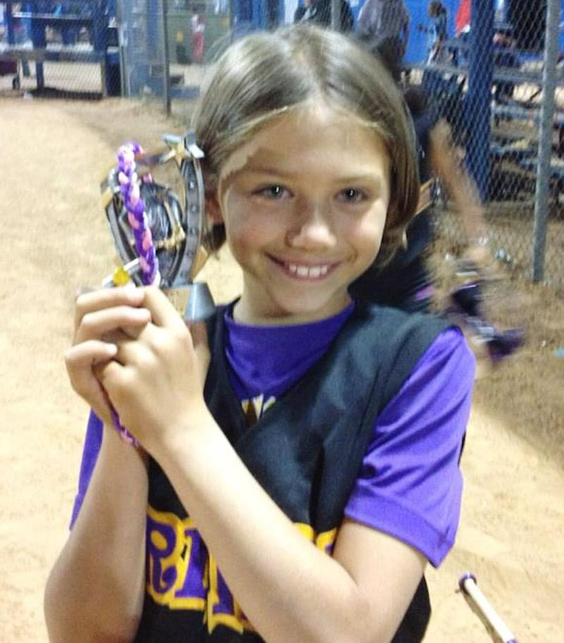 This undated handout photo provided by Landon Mcneill shows Sydney Angle.  Sydney was killed when a tornado struck Plaza Towers Elementary School in Moore, Okla. on May 20, 2013.(AP Photo/Courtesy of Landon Mcneill)