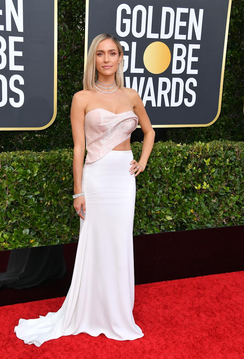 Kristin Cavallari in Cristina Ottaviano dress at the Golden Globes
