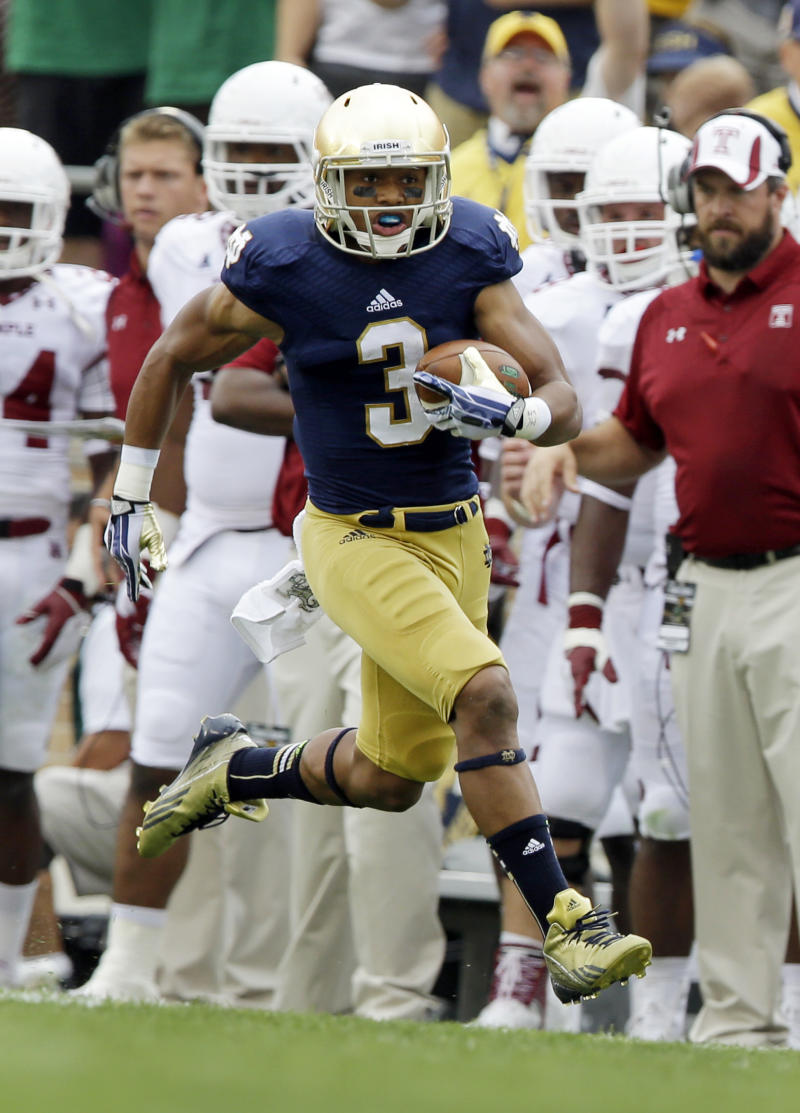 Carlisle emerging as Notre Dame's top rusher