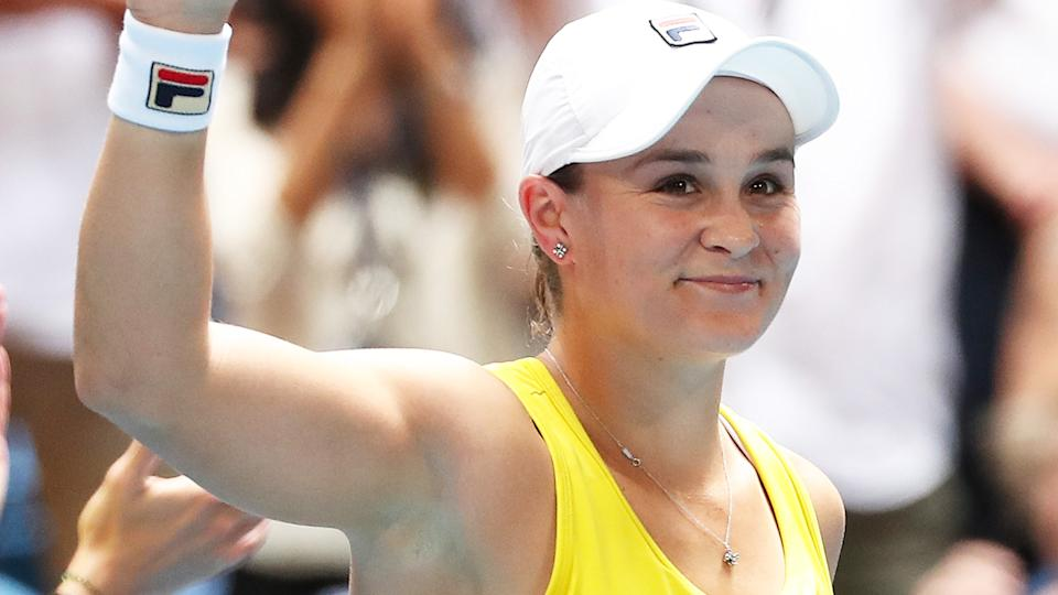 Ash Barty believes she won't have too significant of an advantage from being able to avoid hotel quarantine ahead of the Australian Open. (Photo by Paul Kane/Getty Images)