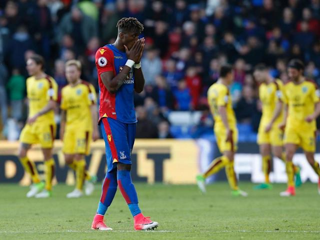 Zaha was repeatedly fouled by Flanagan (Getty)