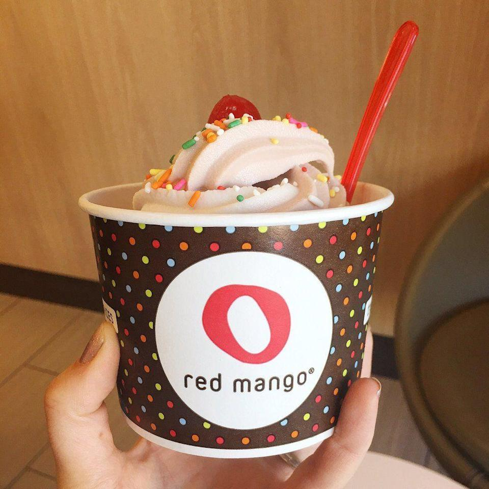 """<p><strong><a href=""""https://www.yelp.com/biz/red-mango-omaha-2"""" rel=""""nofollow noopener"""" target=""""_blank"""" data-ylk=""""slk:Red Mango"""" class=""""link rapid-noclick-resp"""">Red Mango</a>, West Omaha</strong></p><p>""""Never in my life did I expect to eat beet or cucumber flavored frozen dessert. And yet, here I am, happily enjoying both! Red Mango is my favorite yogurt place because their flavors are light, fruity, and unique. That's what keeps me driving back to their own remaining store in town."""" - Yelp user <a href=""""https://www.yelp.com/user_details?userid=HGarAXCvWEL5mOKzyXmSPg"""" rel=""""nofollow noopener"""" target=""""_blank"""" data-ylk=""""slk:Jessica S."""" class=""""link rapid-noclick-resp"""">Jessica S.</a></p><p>Photo: Yelp/<a href=""""https://www.yelp.com/biz_photos/red-mango-omaha-2?select=JcCMAkJgLSld7fmpGcYRDA"""" rel=""""nofollow noopener"""" target=""""_blank"""" data-ylk=""""slk:Meg B."""" class=""""link rapid-noclick-resp"""">Meg B.</a></p>"""