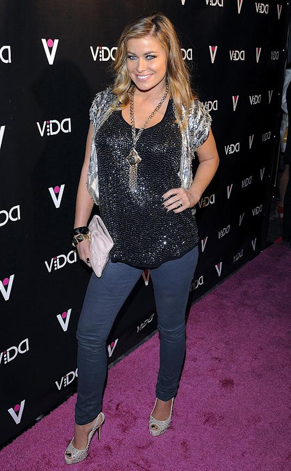 """Carmen Electra was all glammed up for the event in a black sequin top, silver bolero, and cute studded heels. Jean Baptiste Lacroix/<a href=""""http://www.wireimage.com"""" target=""""new"""">WireImage.com</a> - January 13, 2010"""