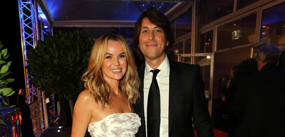 Amanda Holden and her husband Chris Hughes, pictured in 2014, have been married since 2008. (Getty Images)