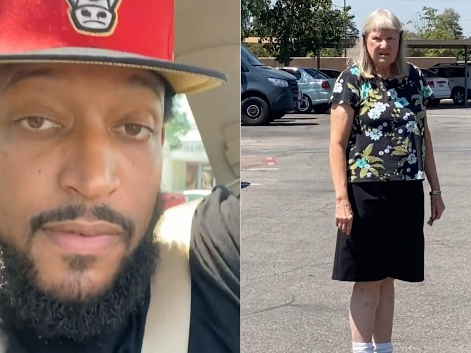 Instagram user @carteruno captured his ten-minute encounter with an elderly woman who called him the n-word before phoning the police.