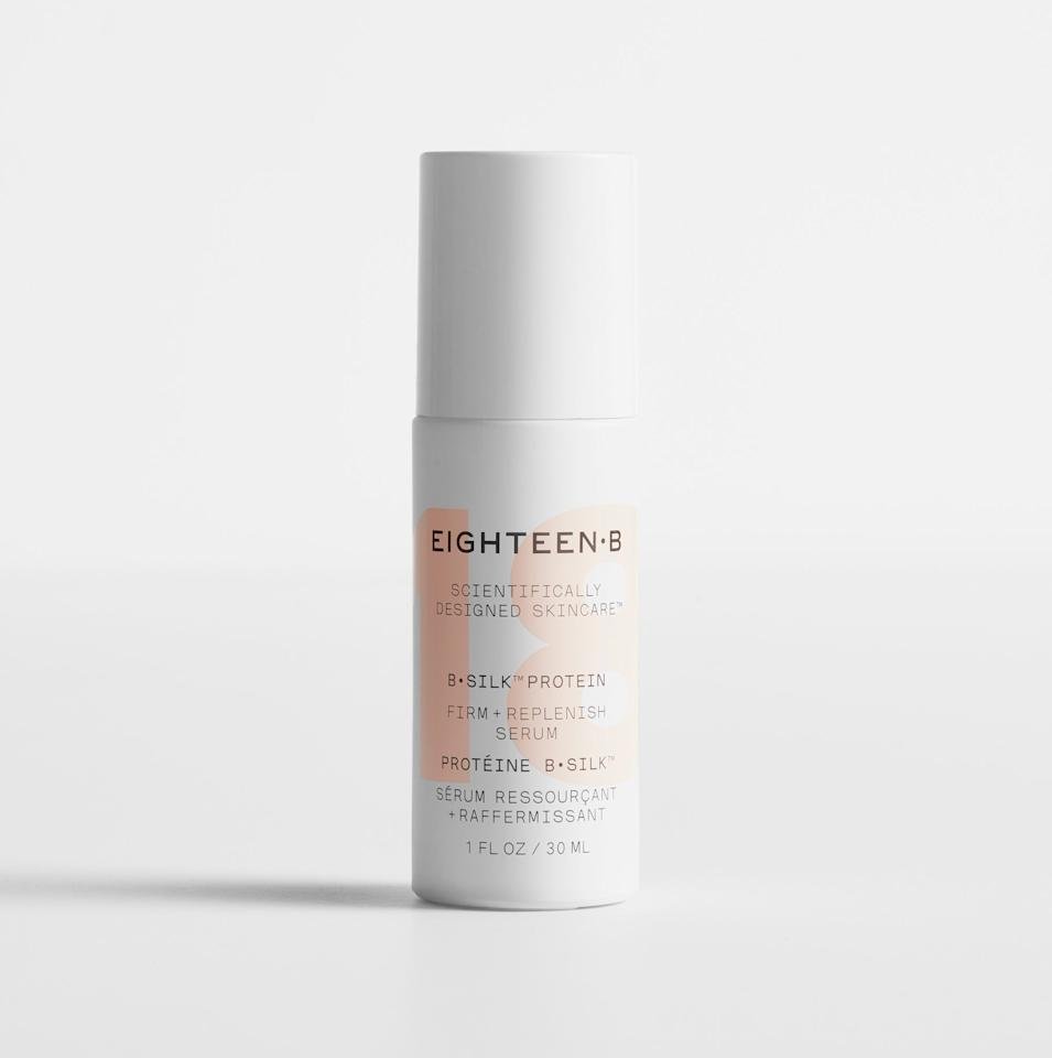"<p>This high-tech serum is made from faux silk engineered in Eighteen B's lab in Silicon Valley, which means it's vegan and sustainable. It's perfect for anyone concerned about an eco-friendly skin-care routine or just someone (everyone?) who wants the feeling of silk on their skin.</p> <p>$105 (<a href=""https://www.eighteenb.com/silk-facial-moisturizers/firm-replenish-serum"" rel=""nofollow"">Shop Now</a>)</p>"