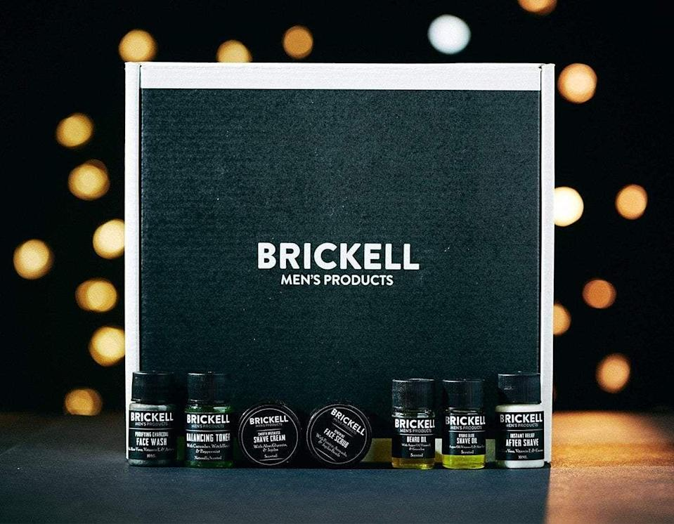 """<p>brickellmensproducts.com</p><p><a href=""""https://go.redirectingat.com?id=74968X1596630&url=https%3A%2F%2Fbrickellmensproducts.com%2Fproducts%2Fshave-beard-sample-kit&sref=https%3A%2F%2Fwww.menshealth.com%2Fgrooming%2Fg36290394%2Fbest-shave-clubs%2F"""" rel=""""nofollow noopener"""" target=""""_blank"""" data-ylk=""""slk:BUY IT HERE"""" class=""""link rapid-noclick-resp"""">BUY IT HERE</a></p><p>Brickell products are go-tos around the <em>Men's Health</em> offices for one simple reason—they're damn good. The brand doesn't have a subscription box service, but you can opt-in for auto shipping for almost any product they offer, which basically equates to creating your own subscription service. Our advice is to start with the free sample box (the shave & beard box is perfect) to get a feel for the products before committing to ordering the full-size. We guarantee that once you try them, you'll be as impressed as we are.</p>"""