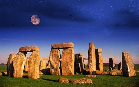 Moonrise over Stonehenge in Wiltshire - Credit: Alamy