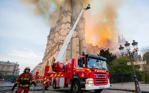 Prosecutors confirmed an inquiry has been launched to determine the cause of the fire - Credit: Benoit Moser/Paris Fire Brigade