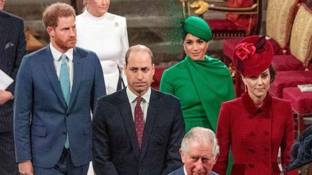 PHOTO: Prince Harry, Duke of Sussex, Meghan, Duchess of Sussex, Prince William, Duke of Cambridge, Catherine, Duchess of Cambridge and Prince Charles, Prince of Wales attend the Commonwealth Day Service 2020 on March 9, 2020, in London. (Phil Harris/WPA Pool via Getty Images, FILE)