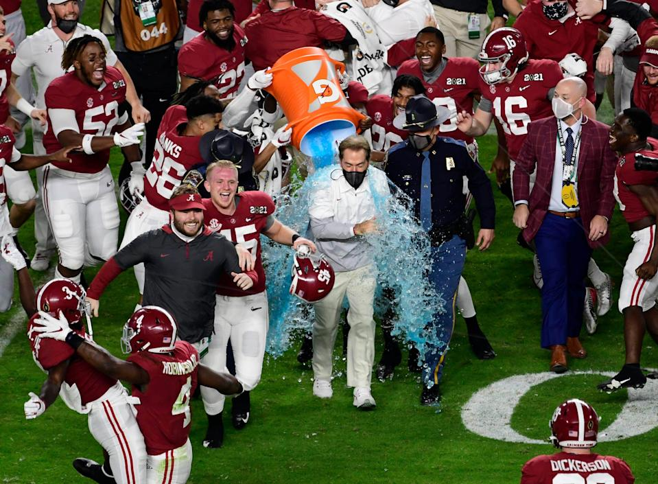 Defending national champion Alabama has a pretty weak schedule other than a matchup against Miami in Atlanta.