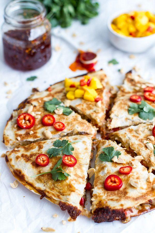 """<strong>Get the <a href=""""http://www.halfbakedharvest.com/sweet-thai-chili-salmon-quesadillas-spicy-mango/"""" target=""""_blank"""">Sweet Thai Chili Salmon Quesadillas recipe</a> from Half Baked Harvest</strong>"""