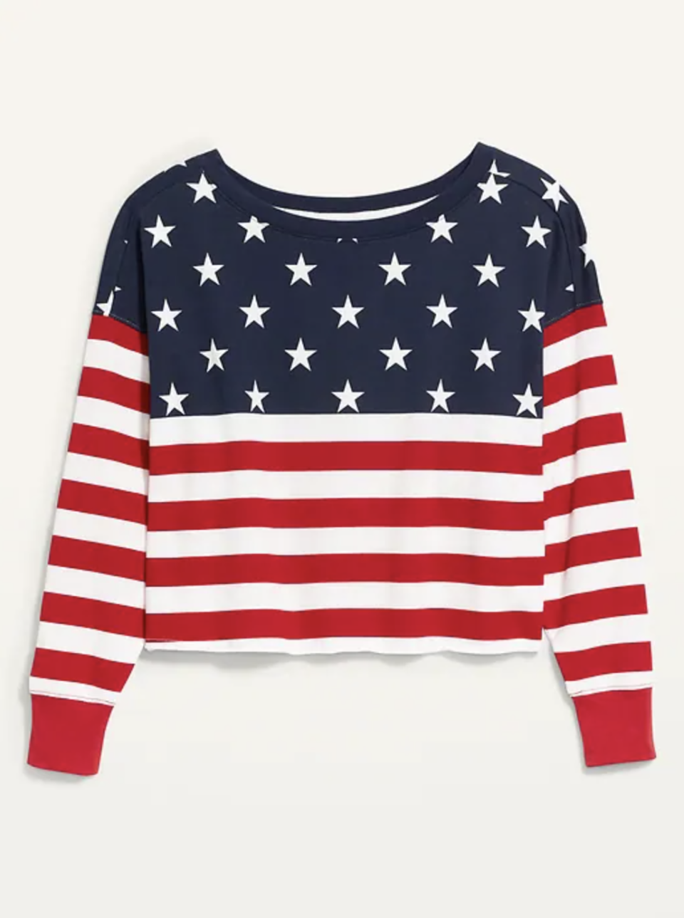 """<p><strong>Old Navy</strong></p><p>oldnavy.gap.com</p><p><strong>$29.97</strong></p><p><a href=""""https://go.redirectingat.com?id=74968X1596630&url=https%3A%2F%2Foldnavy.gap.com%2Fbrowse%2Fproduct.do%3Fpid%3D688869012%26modelSize%3DM%26vid%3D1%26tid%3Donpl000017%26kwid%3D1%26ap%3D7%23pdp-page-content&sref=https%3A%2F%2Fwww.townandcountrymag.com%2Fsociety%2Ftradition%2Fg37681411%2Fprincess-diana-sweatshirt-biker-shorts-outfit-inspiration%2F"""" rel=""""nofollow noopener"""" target=""""_blank"""" data-ylk=""""slk:Shop Now"""" class=""""link rapid-noclick-resp"""">Shop Now</a></p><p>Stars on top, stripes on the bottom, and cozy all over, Diana proved that flag-themed apparel is not just for July 4th. </p>"""