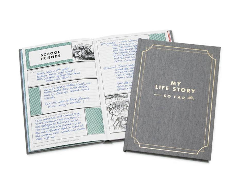 <p>Give them a journal to record all their experiences with this <span>My Life Story - So Far<br> </span> ($30).</p>