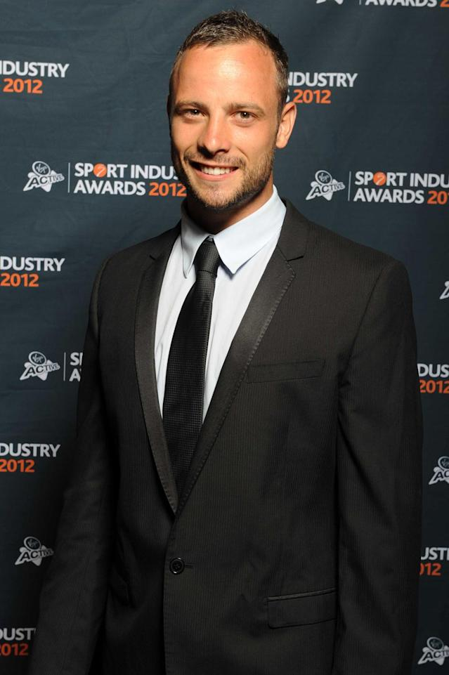 Oscar Pistorius appears during the 2012 Virgin Active Sports Industry Awards from Emperors Palace on February 23, 2012 in Johannesburg, South Africa. (Photo by Lee Warren/Gallo Images/Getty Images)