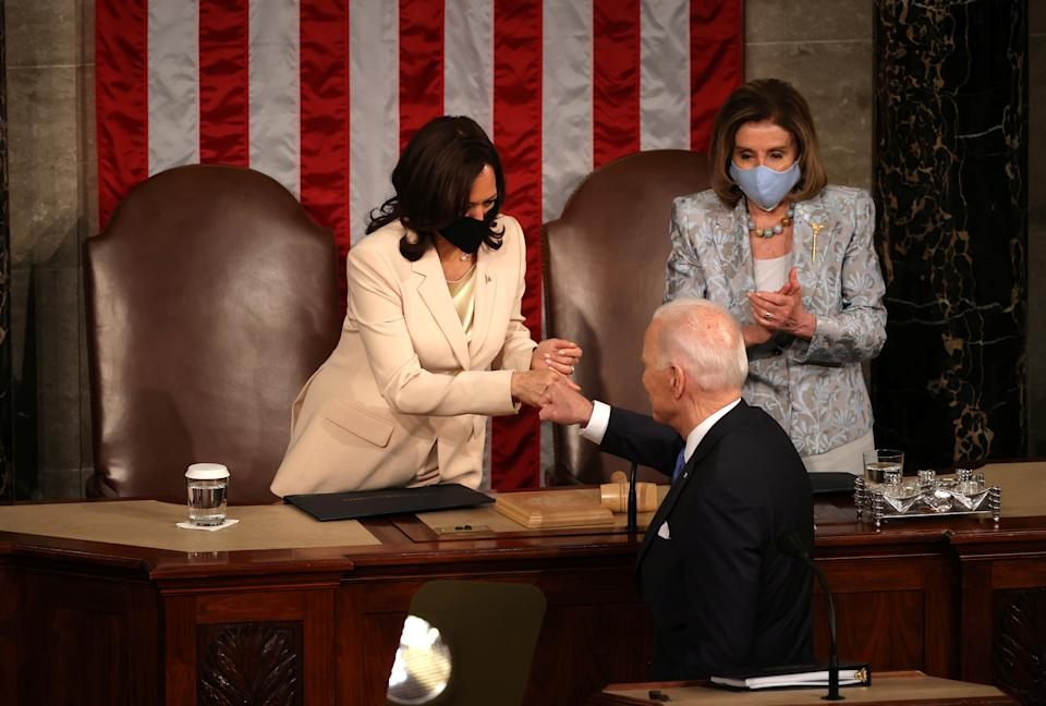 Kamala Harris, Joe Biden and Nancy Pelosi