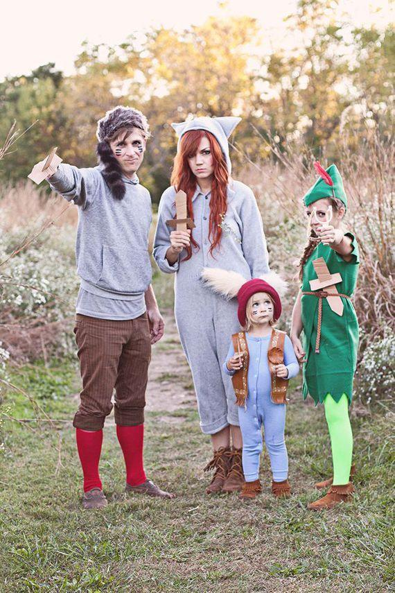 """<p>So the crafty mom behind blog <a href=""""http://www.skunkboyblog.com/2013/10/family-halloween-costume-diy-on.html"""" rel=""""nofollow noopener"""" target=""""_blank"""" data-ylk=""""slk:Skunk Boy"""" class=""""link rapid-noclick-resp"""">Skunk Boy</a> created costumes from items they already had in their closets. We'd say, it's a job well done!</p><p><em><a href=""""http://www.abeautifulmess.com/2013/10/peter-pan-and-the-lost-boys-costume-diy.html"""" rel=""""nofollow noopener"""" target=""""_blank"""" data-ylk=""""slk:See more at A Beautiful Mess »"""" class=""""link rapid-noclick-resp"""">See more at A Beautiful Mess »</a></em></p>"""