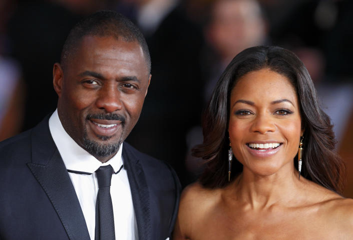 LONDON, UNITED KINGDOM - DECEMBER 05: (EMBARGOED FOR PUBLICATION IN UK NEWSPAPERS UNTIL 48 HOURS AFTER CREATE DATE AND TIME)  Idris Elba and Naomie Harris attend the Royal film performance of 'Mandela: Long Walk to Freedom' at Odeon Leicester Square on December 5, 2013 in London, England. (Photo by Max Mumby/Indigo/Getty Images)