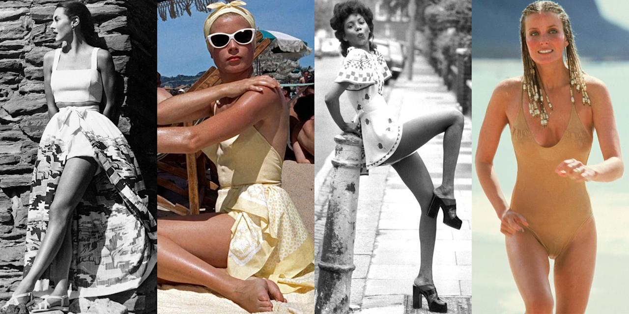 <p>We all know that when it comes to fashion and trends, what goes around comes around. The good news is that if you're in need of summer style inspo and your Instagram feed simply isn't cutting it, you can look back to the ladies who wore your favorite summer looks first. From the '20s to the early aughts, get inspired by these throwback looks and trends that still work for summer 2019.</p>