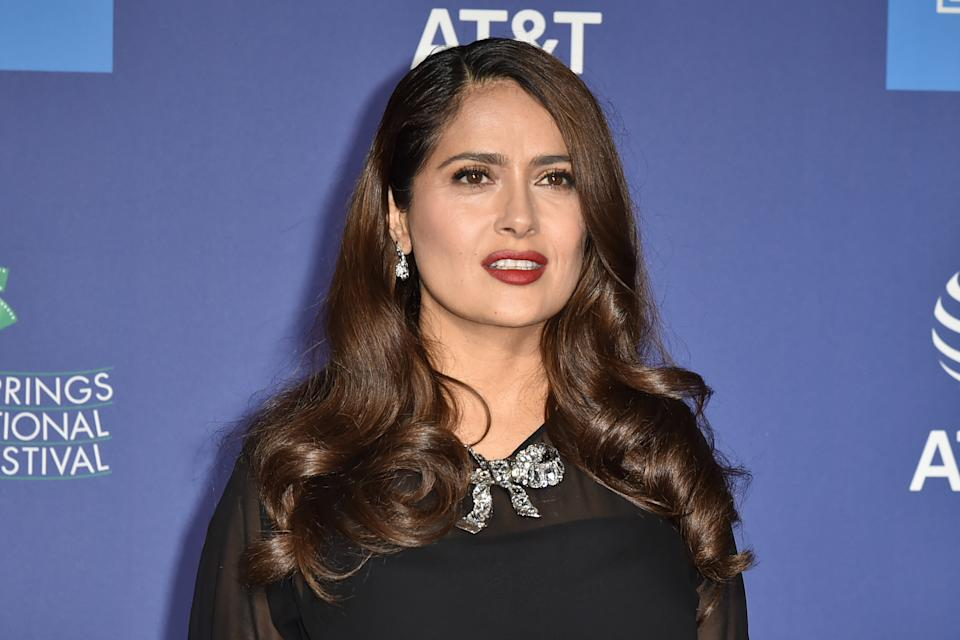 PALM SPRINGS, CALIFORNIA - JANUARY 02: Salma Hayek attends the 31st Annual Palm Springs International Film Festival Gala at Palm Springs Convention Center on January 02, 2020 in Palm Springs, California. (Photo by David Crotty/Patrick McMullan via Getty Images)