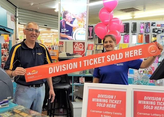 The Carramar Lottery Centre and News in Morley Western Australia, has sold two division one winning tickets this year. Source: Lotterywest